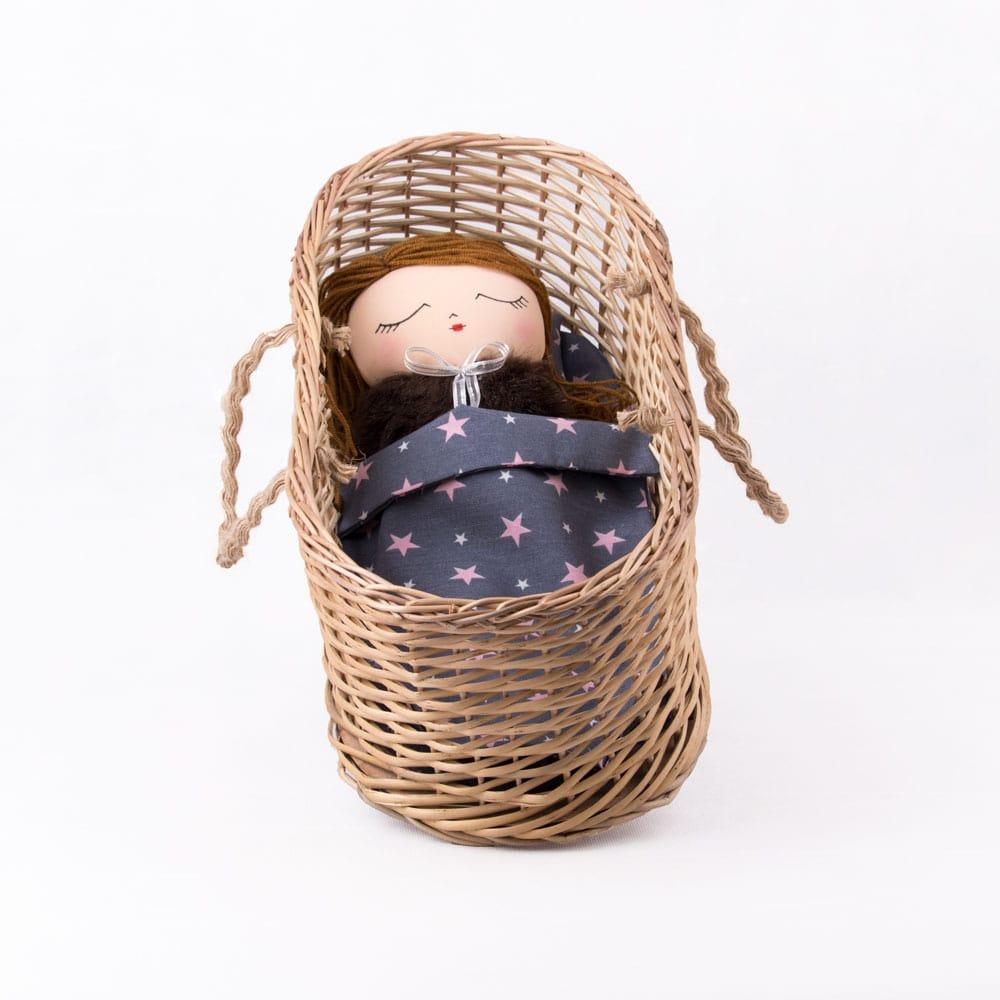 عروسک دست ساز سبد دار