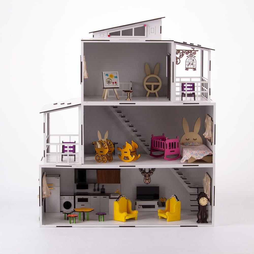 اسباب بازی  خانه عروسکی سه طبقه